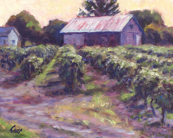 Nature Poster featuring the painting In Wine Country by Michael Camp