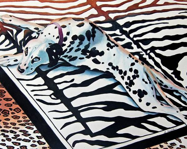 Animal/dog/dalmatian Poster featuring the painting Incognito by Gail Zavala