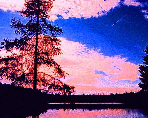 Landscape Poster featuring the photograph Incoming Over Algonquin Park 2 Ae by Lyle Crump