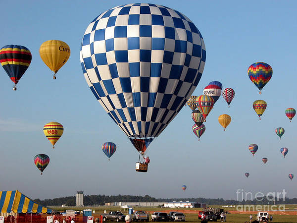 Balloons Poster featuring the photograph Incoming by Paul Anderson
