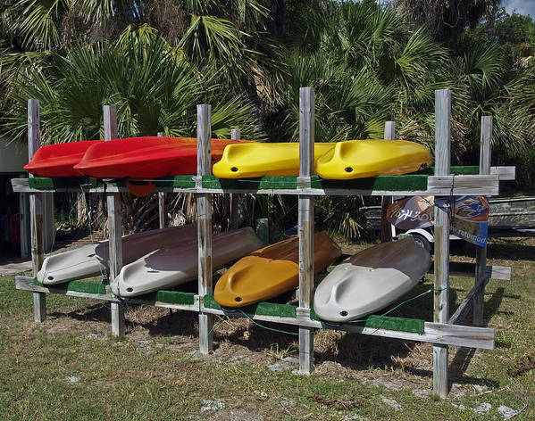 Kayak Poster featuring the photograph Indian River In Florida by Allan Hughes