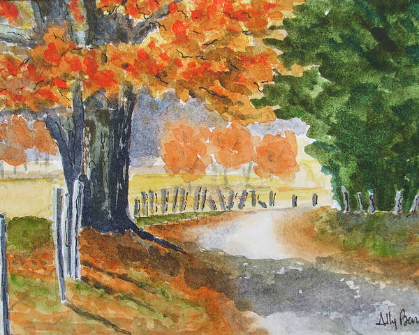 Autumn Poster featuring the painting Indian Summer by Ally Benbrook