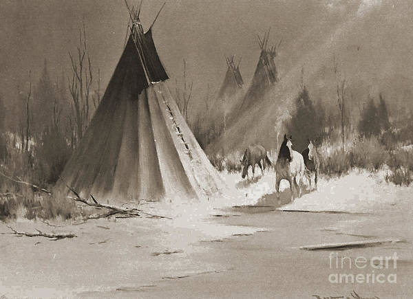 American Poster featuring the photograph Indian Tee Pee by Gary Wonning
