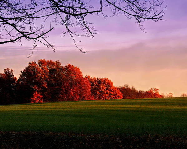 Landscape Poster featuring the photograph Indiana Sunset by Diane Merkle