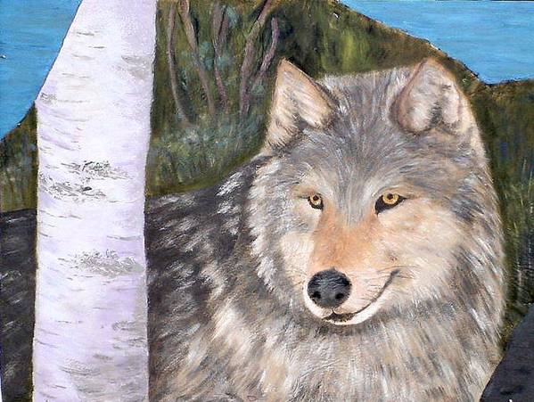 Wildlife Poster featuring the painting Indomitable Spirit II by Merle Blair