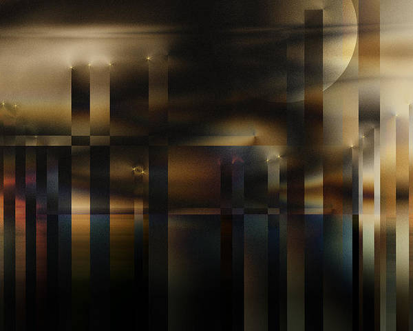Poster featuring the digital art Industrial Sunset by Gae Helton