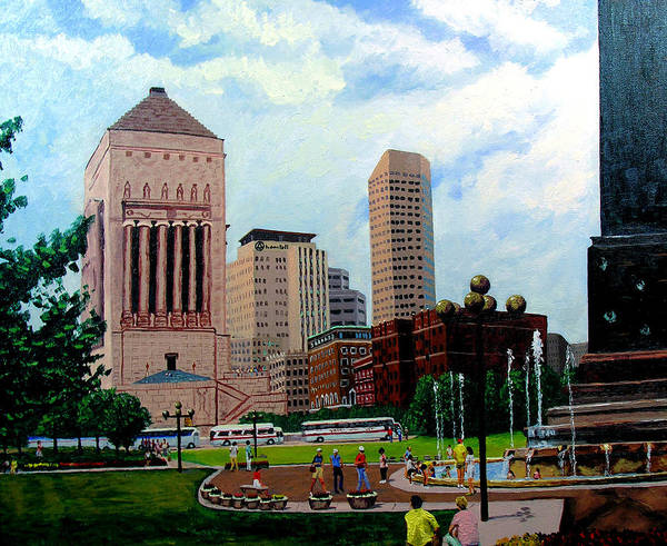 Indianapolis Poster featuring the painting Indy Festival by Stan Hamilton