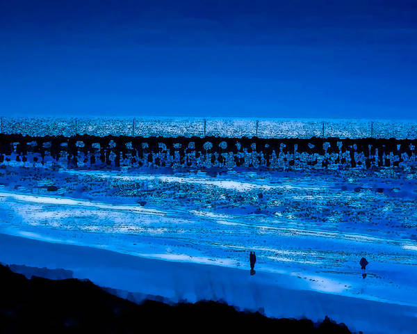 Sea Poster featuring the photograph Infinite Blue by John Pagliuca