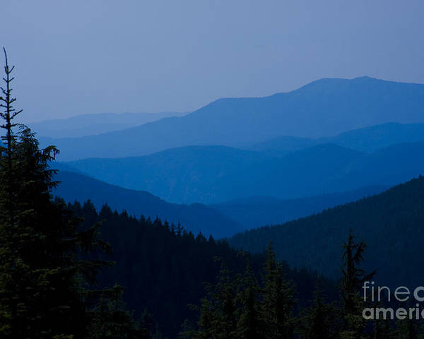 Mountain Poster featuring the photograph Infinity by Idaho Scenic Images Linda Lantzy