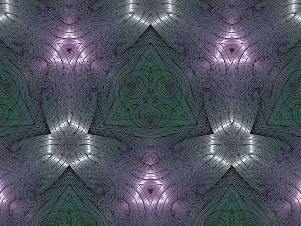 Kaleidoscope Poster featuring the digital art Inside The Crystal by Ricky Kendall