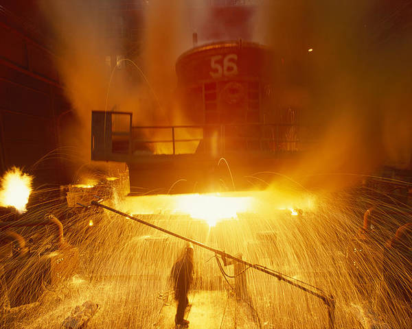 East Slovakian Steel Mill Poster featuring the photograph Inside The East-slovakian Steel Mill by James L Stanfield