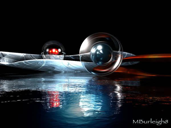 Digital Art Poster featuring the digital art Inspiration by Michael Burleigh