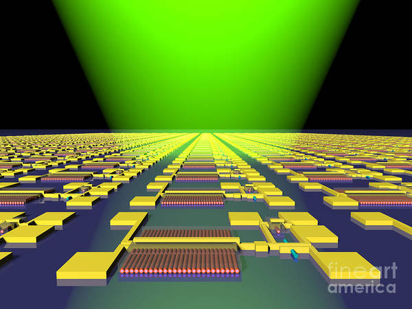 Science Poster featuring the photograph Integrated Nanowire Sensor Circuitry by Science Source
