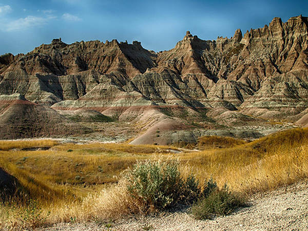 Ann Keisling Poster featuring the photograph Into The Badlands South Dakota by Ann Keisling