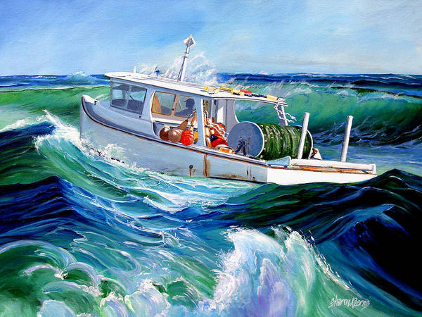Fishing Boat Poster featuring the painting Into The Slough by Sharon Kearns