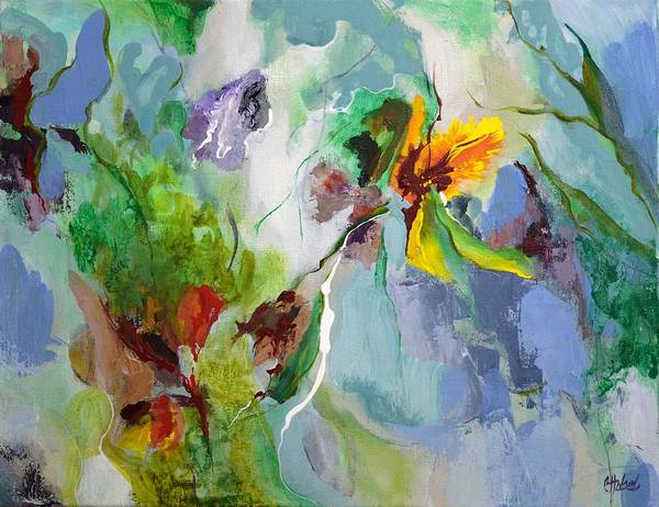 Abstract Floral Poster featuring the painting Into The Soul by Chris Hobel