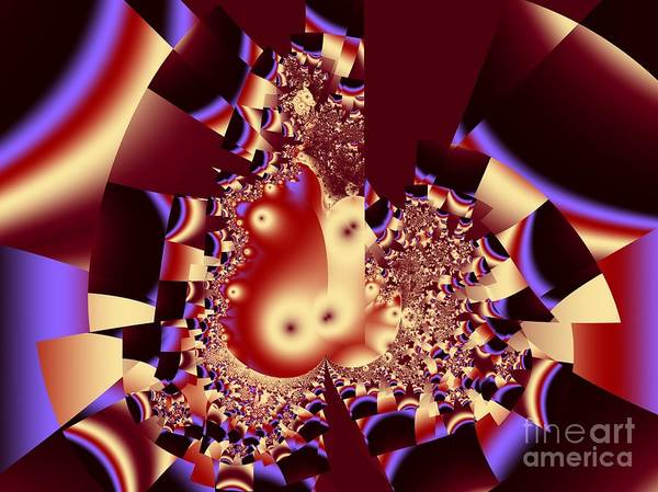Fractal Art Poster featuring the digital art Into The Well by Ron Bissett