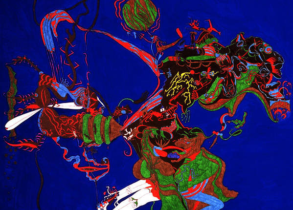 Abstract Poster featuring the print Intoxication by William Watson