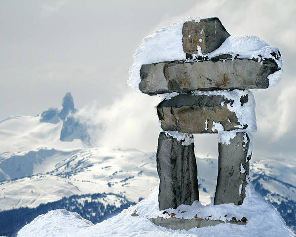 Inukchuk Poster featuring the photograph Inukchuk Whistler by Pierre Leclerc Photography
