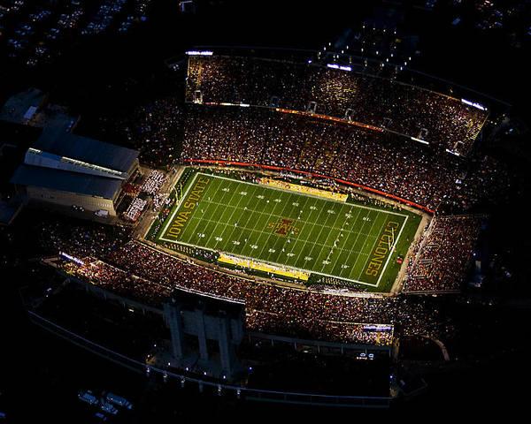 Stadium Poster featuring the photograph Iowa State Jack Trice Stadium Aerial by Iowa State