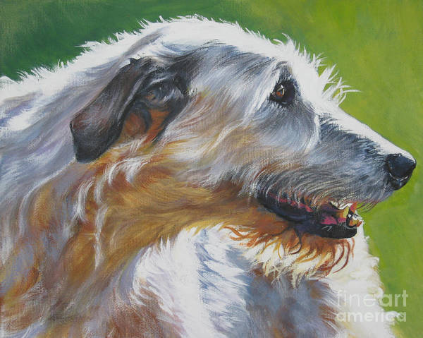 Dog Poster featuring the painting Irish Wolfhound Beauty by Lee Ann Shepard