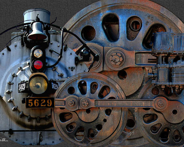 Steam Engine Poster featuring the photograph Iron Circles No. 2 by Joe Bonita