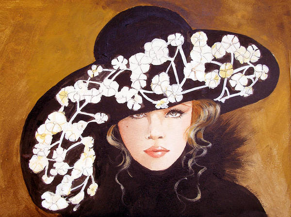 Fashion Poster featuring the print Isabella by Kay Robinson