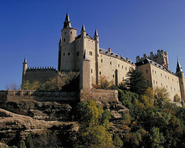 Royal Poster featuring the photograph Isabella's Castle In Segovia by Carl Purcell