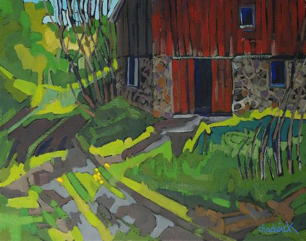 Isaiah Poster featuring the painting Isaiah Tubbs Barn by Phil Chadwick