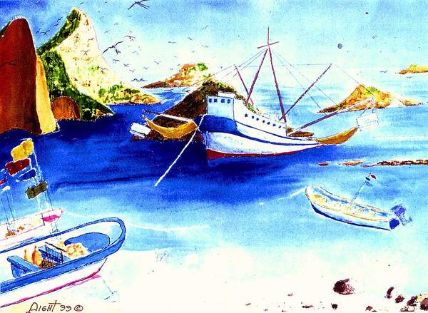 Sescape Poster featuring the painting Isla Isabela by Buster Dight