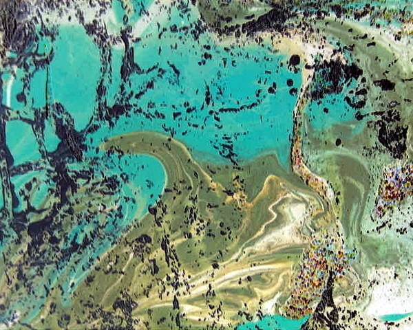 Island Poster featuring the painting Island Lagoon by Dawn Hough Sebaugh