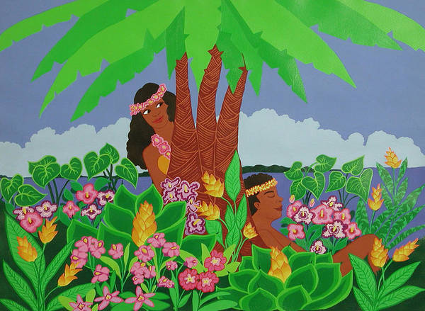 Tropical Poster featuring the painting Island Love by Susan Rinehart