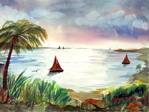 Island Landscape Poster featuring the print Island Of Dreams by George Markiewicz