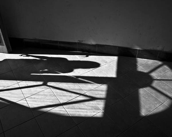 Shadow Poster featuring the photograph It Leaves... Do Not Hold It... by Vadim Grabbe