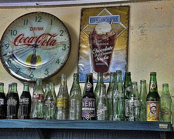 Still Life Poster featuring the photograph It Was Time For A Drink by Jan Amiss Photography