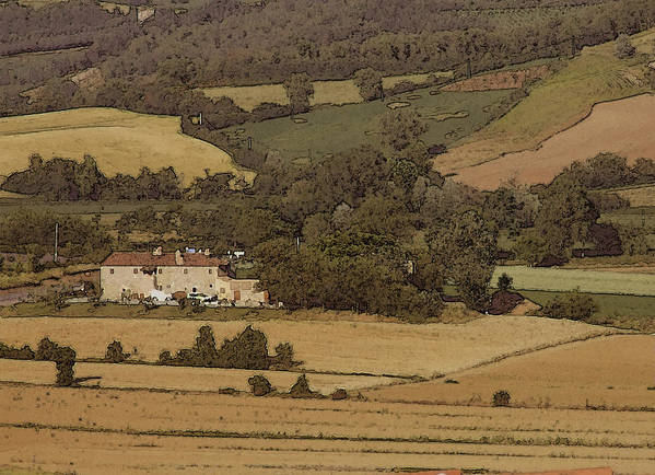 Landscape Poster featuring the photograph Italian Farmhouse by Chuck Shafer