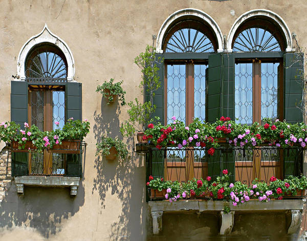 Windows Poster featuring the photograph Italian Windows by Julie Geiss