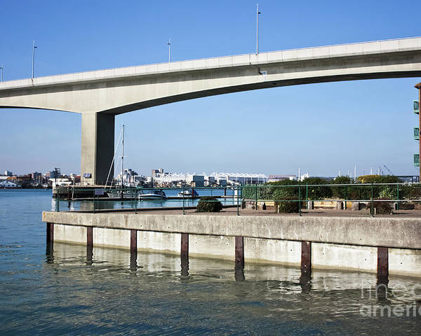 Itchen Bridge Southampton Poster featuring the photograph Itchen Bridge Southampton by Terri Waters