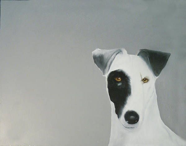 Poster featuring the painting Jack Russell by Dick Larsen