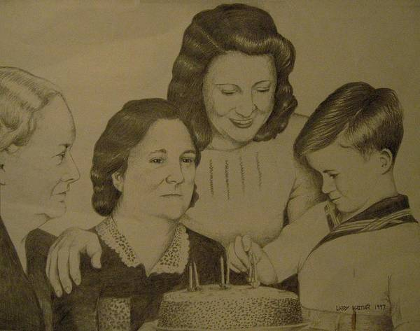 1940s Poster featuring the drawing Jack's Birthday by Larry Whitler