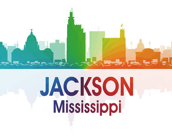Jackson Poster featuring the digital art Jackson Ms by Angelina Vick