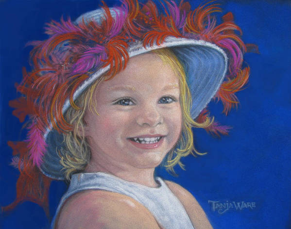 Baby Poster featuring the painting Jada's Hat by Tanja Ware