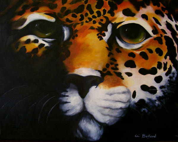 Jaguar Poster featuring the painting Jaguar by Eric Belford