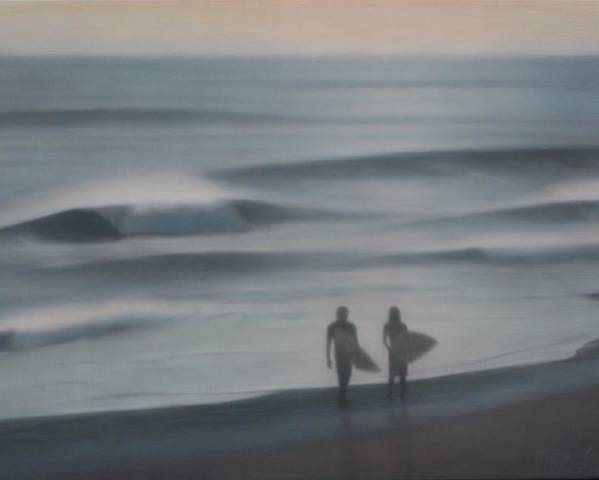 Serene Poster featuring the painting Jalama by Mark Leavitt