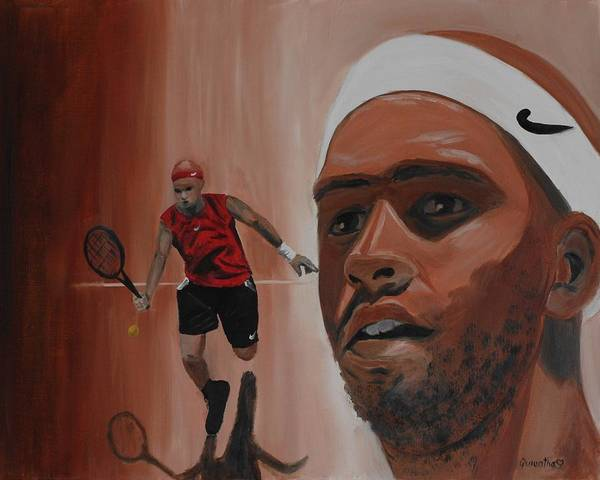 James Poster featuring the painting James Blake by Quwatha Valentine