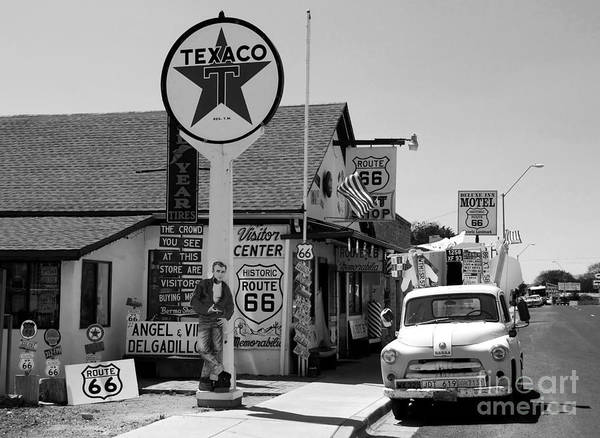 James Dean Poster featuring the photograph James Dean On Route 66 by David Lee Thompson