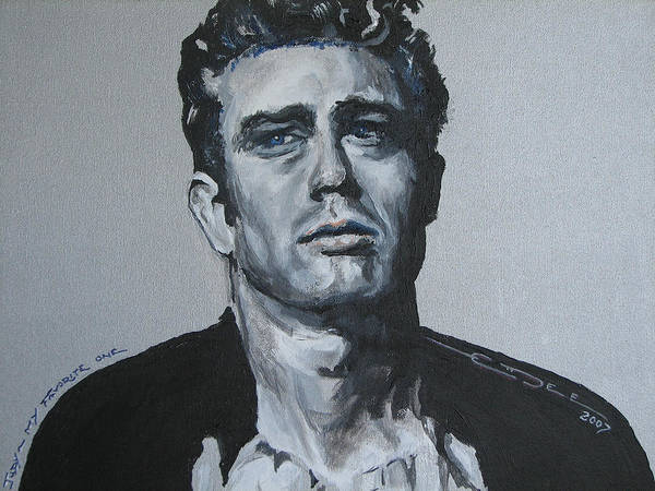 James Dean Poster featuring the painting James Dean One by Eric Dee