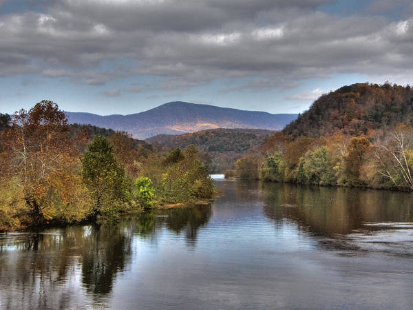 Landscape Poster featuring the photograph James River 1 by Michael Edwards