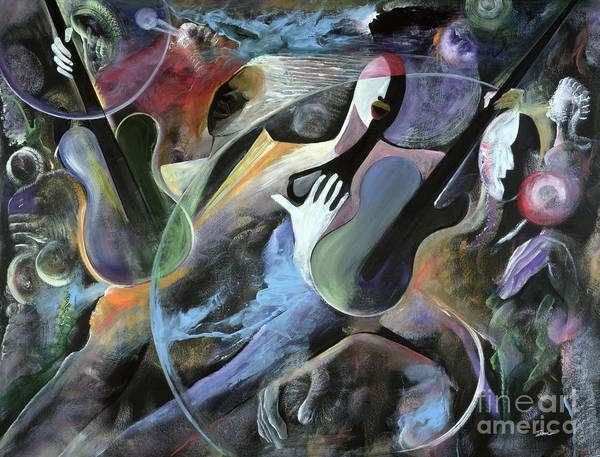Jazz Poster featuring the painting Jammin by Ikahl Beckford