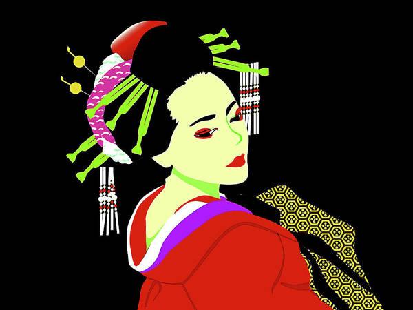 Modern Geisha Girl Art